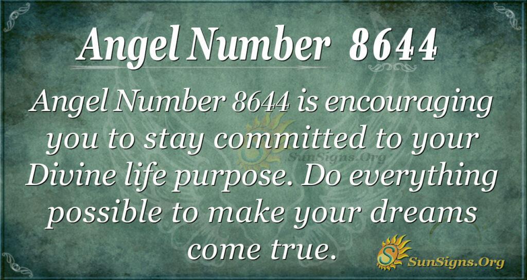 Angel Number 8644