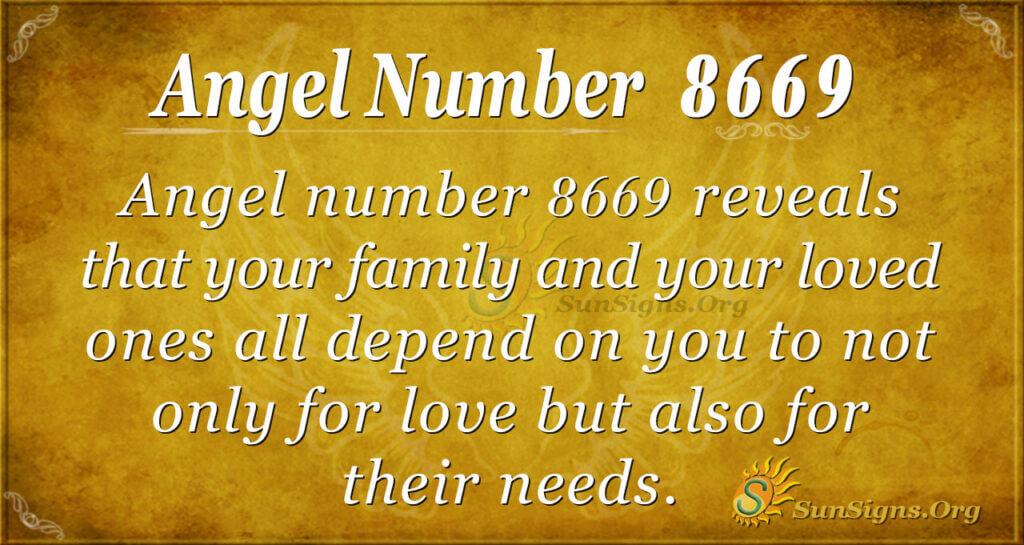 Angel number 8669