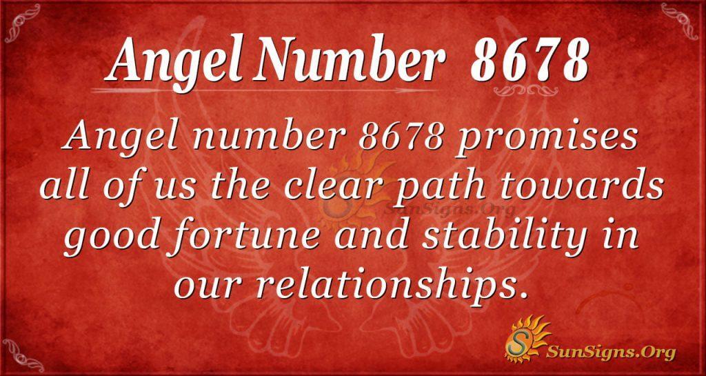 Angel number 8678