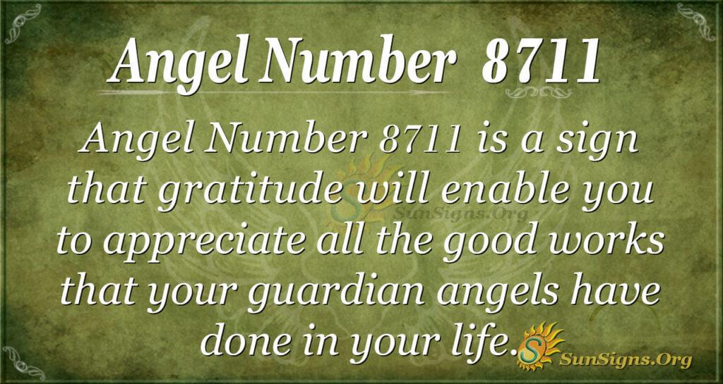 Angel Number 8711