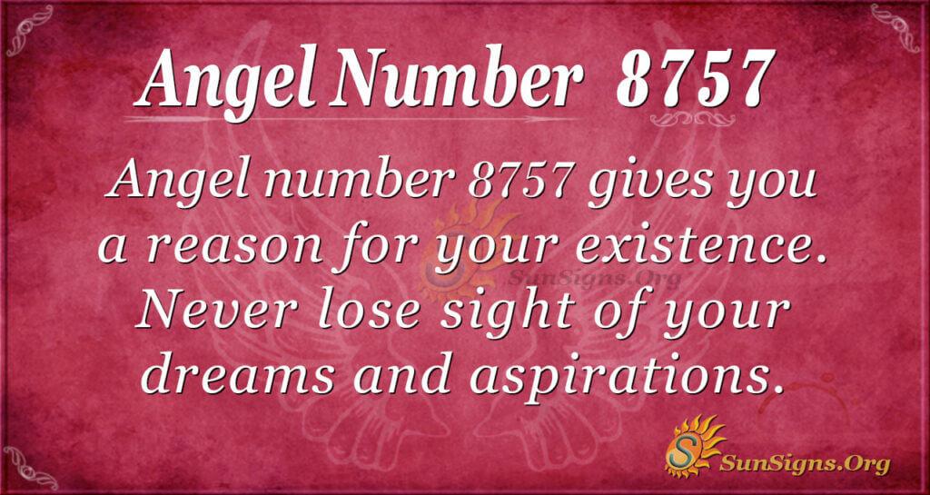 Angel number 8757