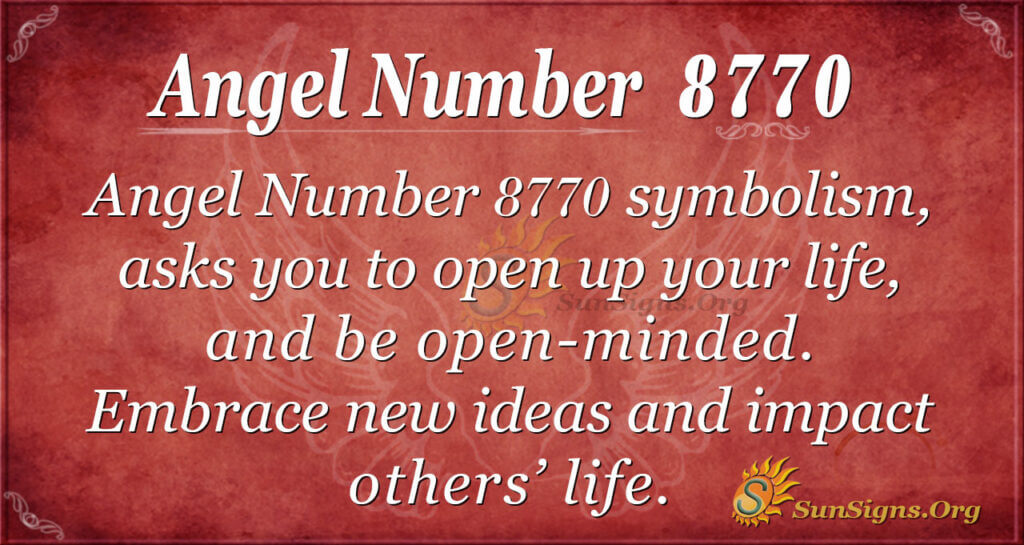 Angel number 8770
