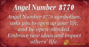 Angel number 8770