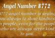 Angel number 8772