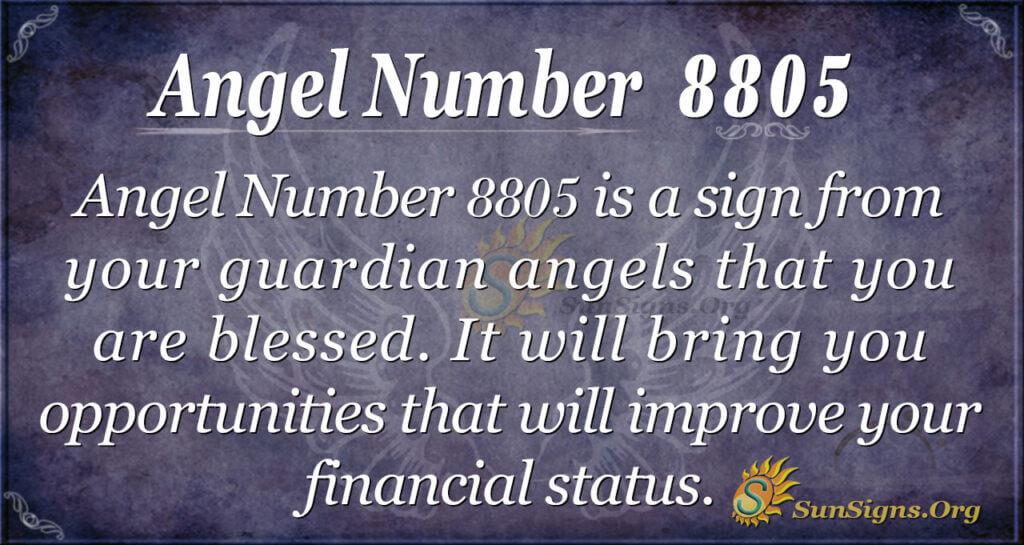 Angel Number 8805