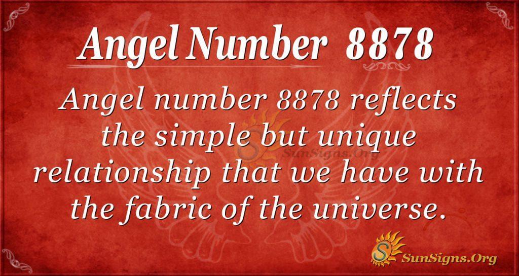 Angel number 8878