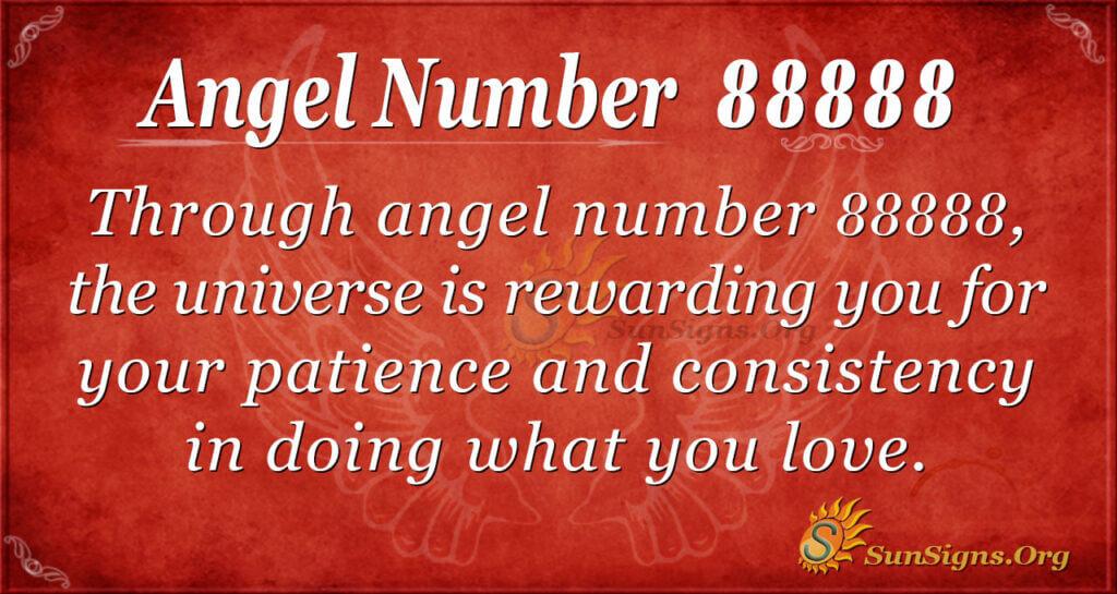 Angel number 88888