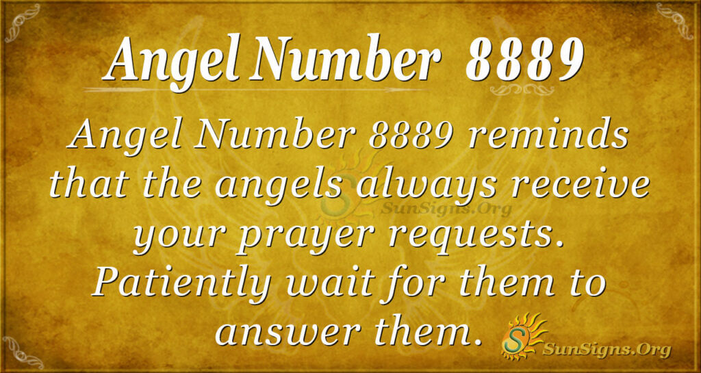 Angel number 8889
