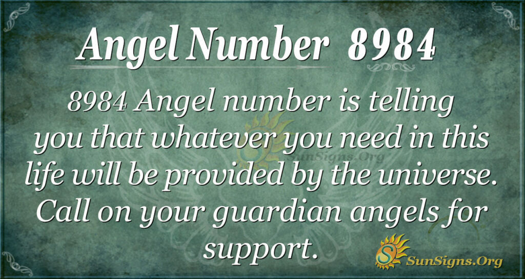 Angel Number 8984