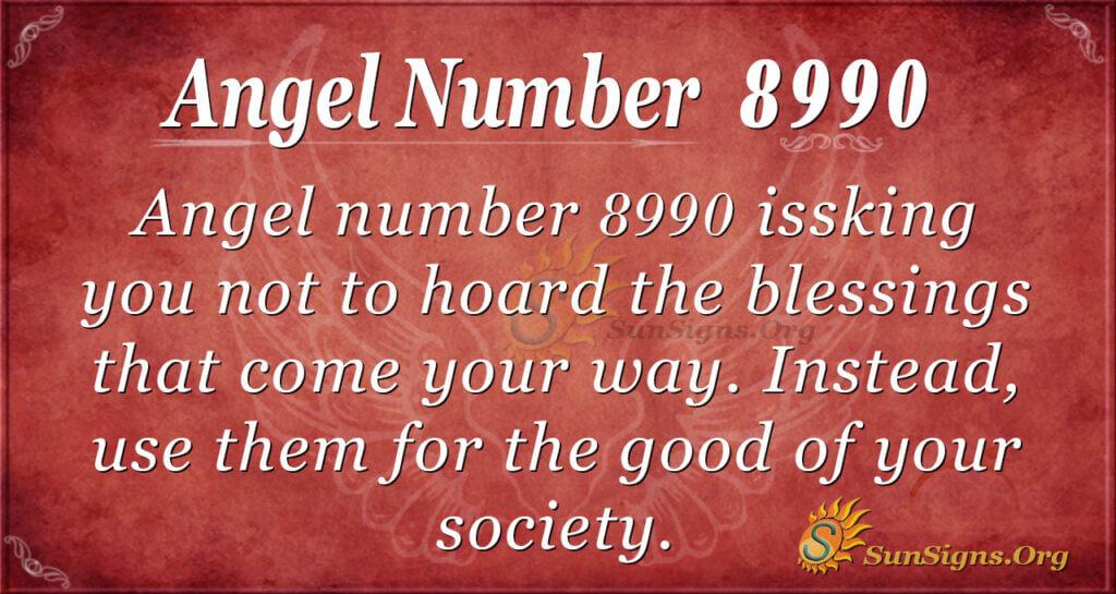 Angel number 8990