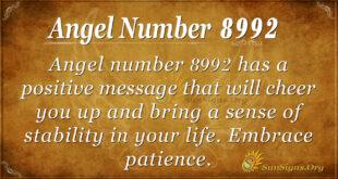 Angel number 8992