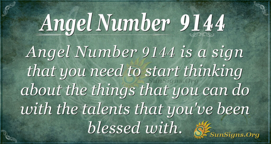 Angel Number 9144