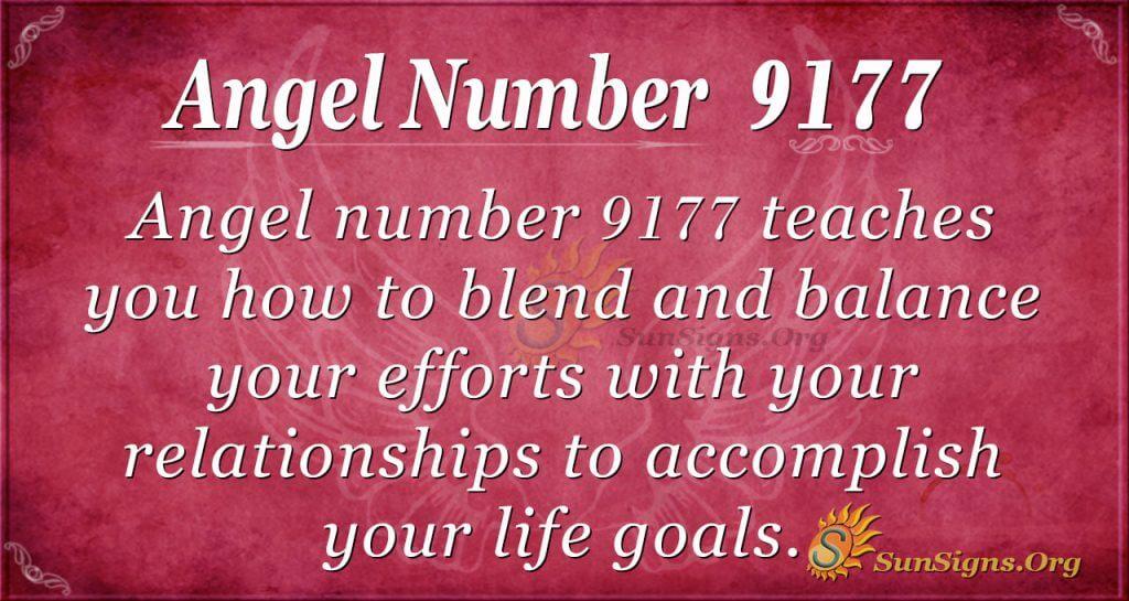Angel number 9177