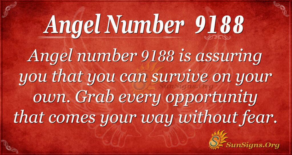 Angel number 9188