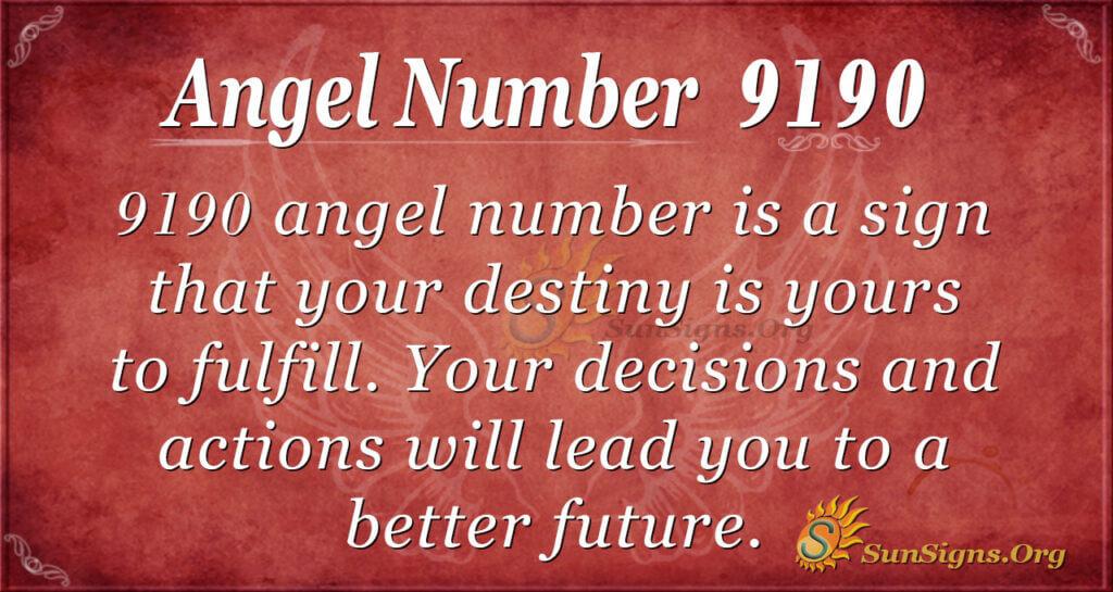 Angel Number 9190