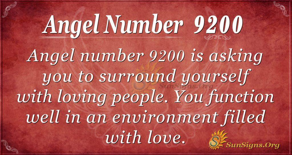 Angel number 9200