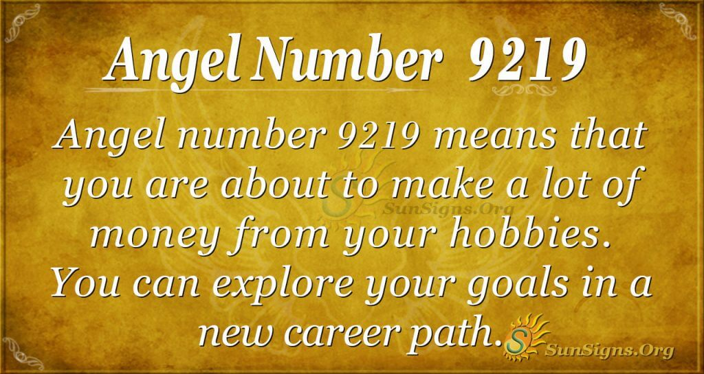 Angel number 9219