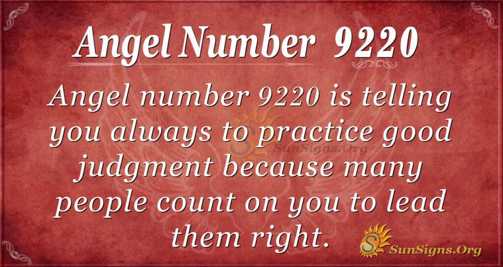 Angel Number 9220