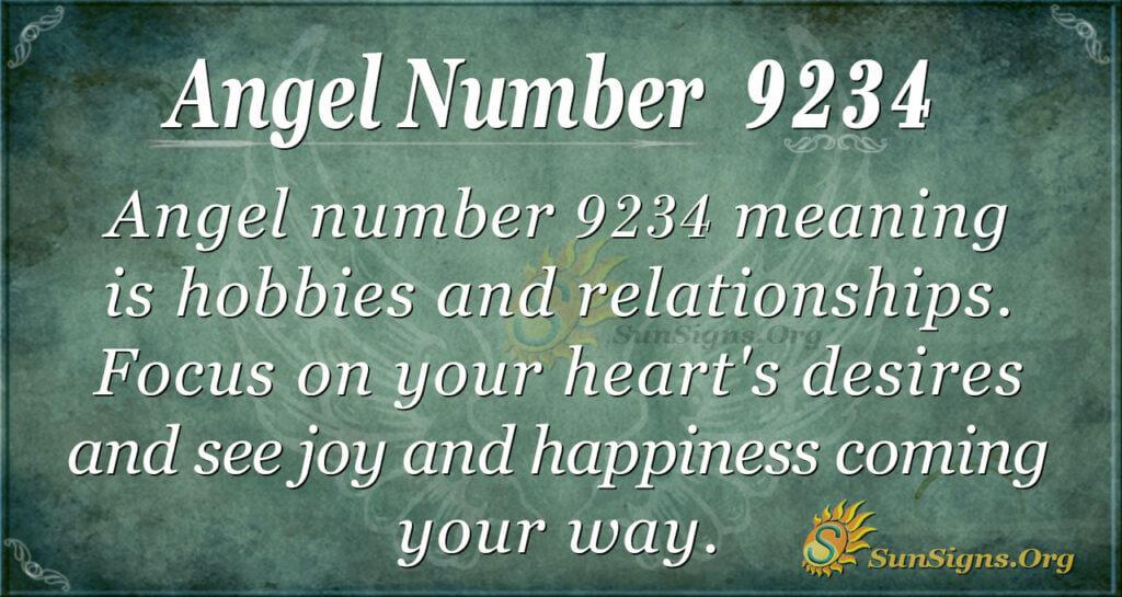 Angel number 9234