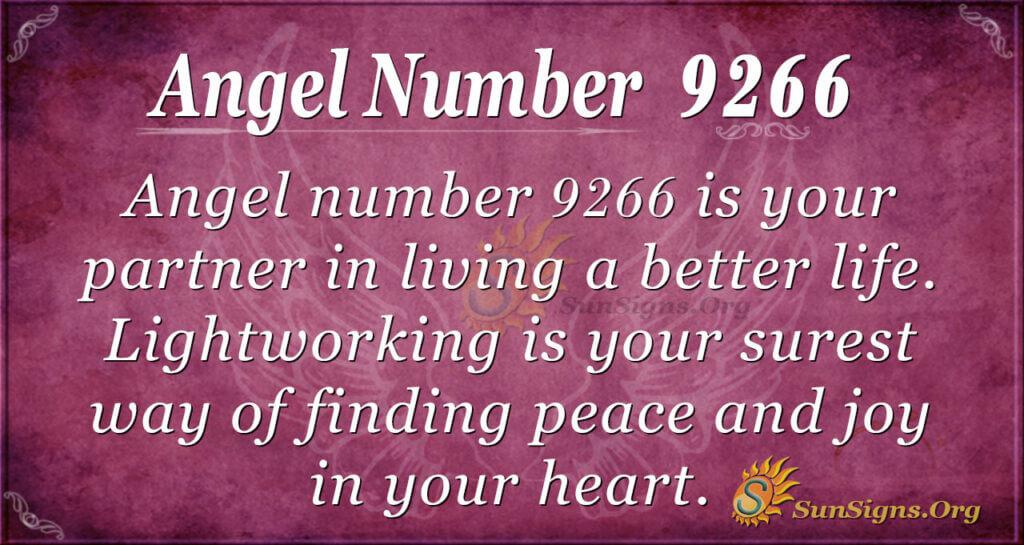 Angel number 9266