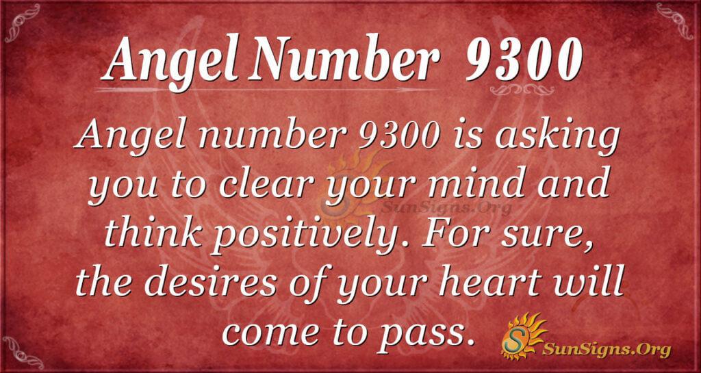 Angel number 9300