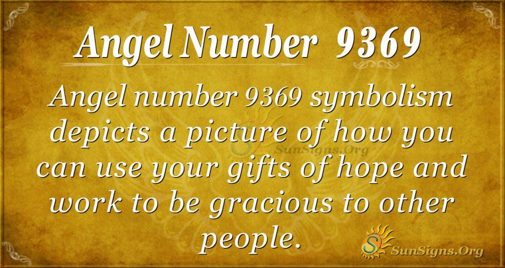 Angel number 9369