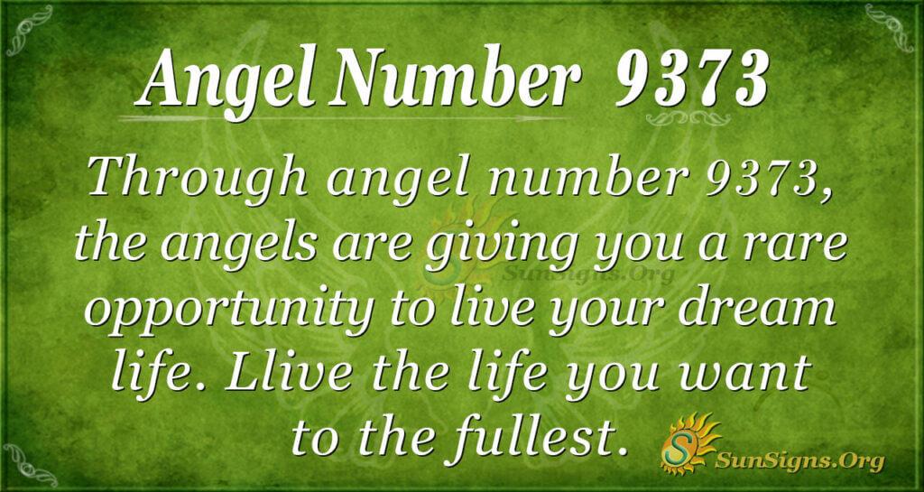 Angel number 9373
