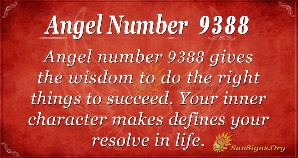 Angel number 9388