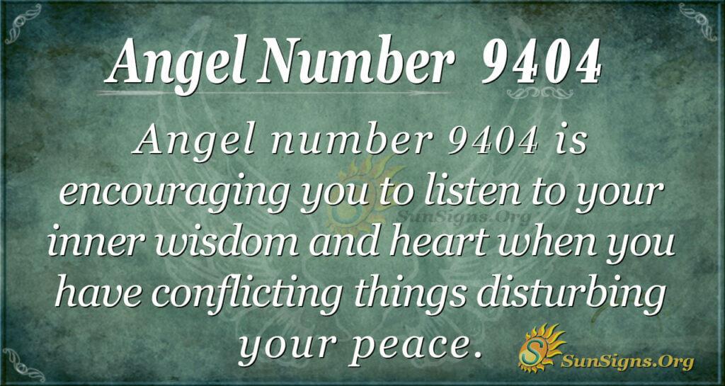 Angel number 9404
