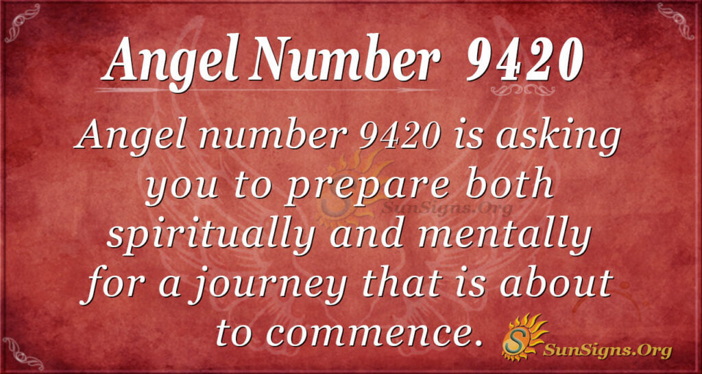 Angel number 9420