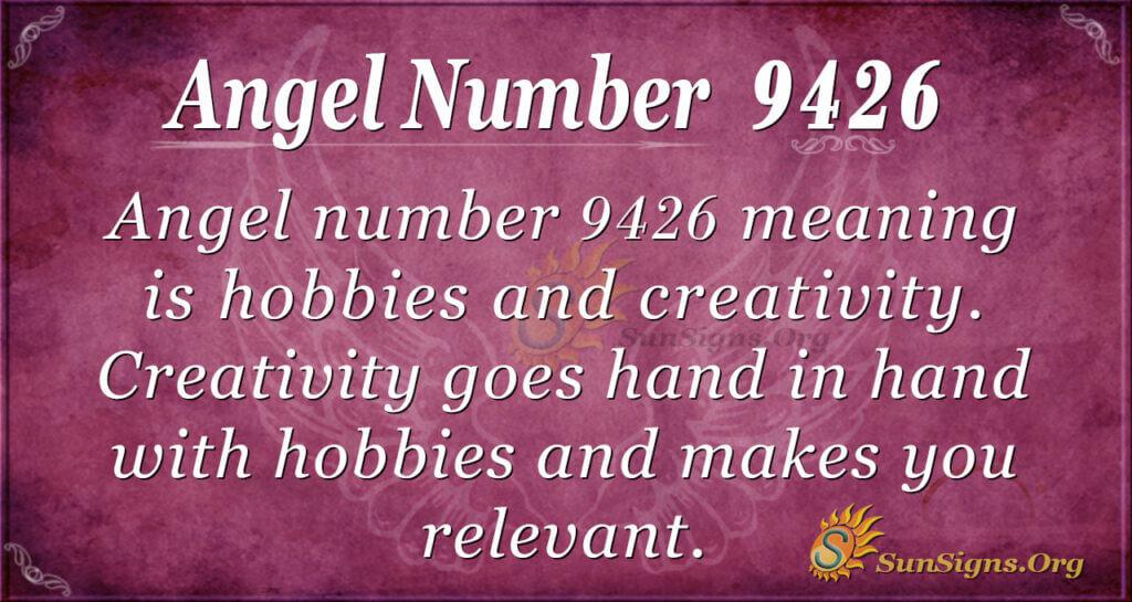 Angel number 9426