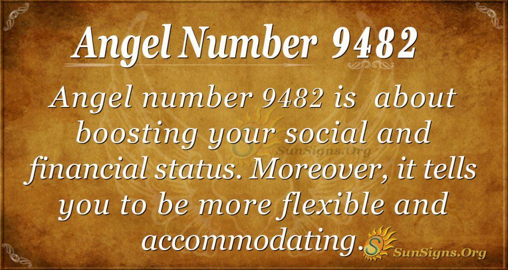 Angel number 9482