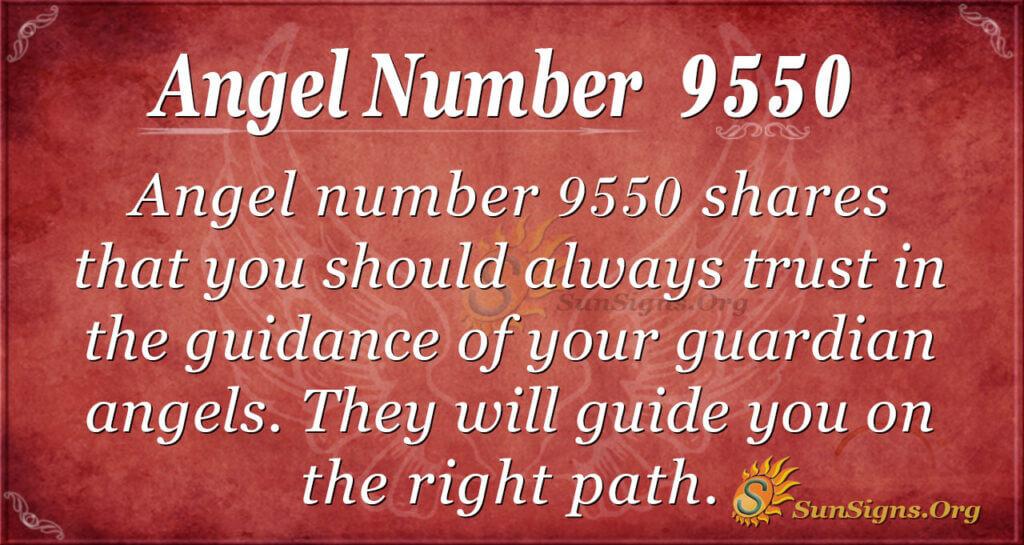 Angel number 9550