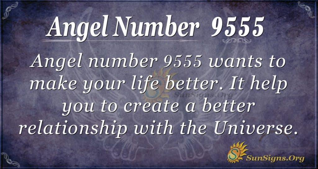Angel number 9555