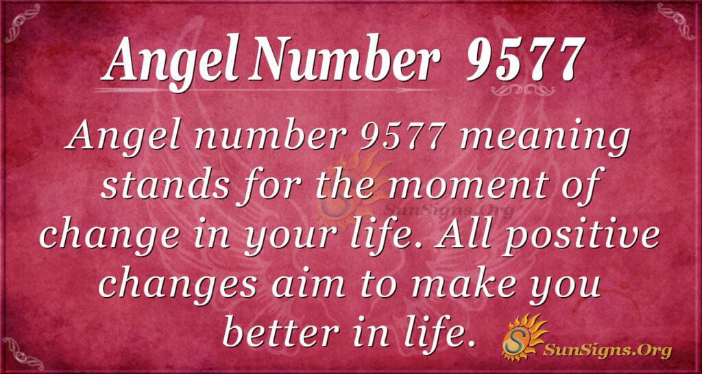 Angel number 9577