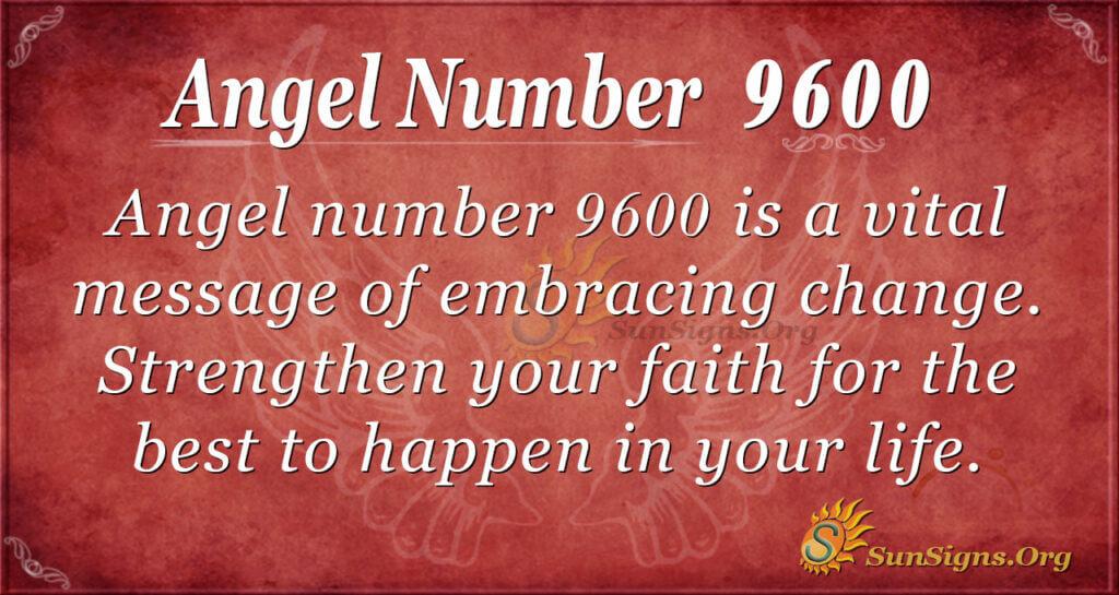 Angel number 9600
