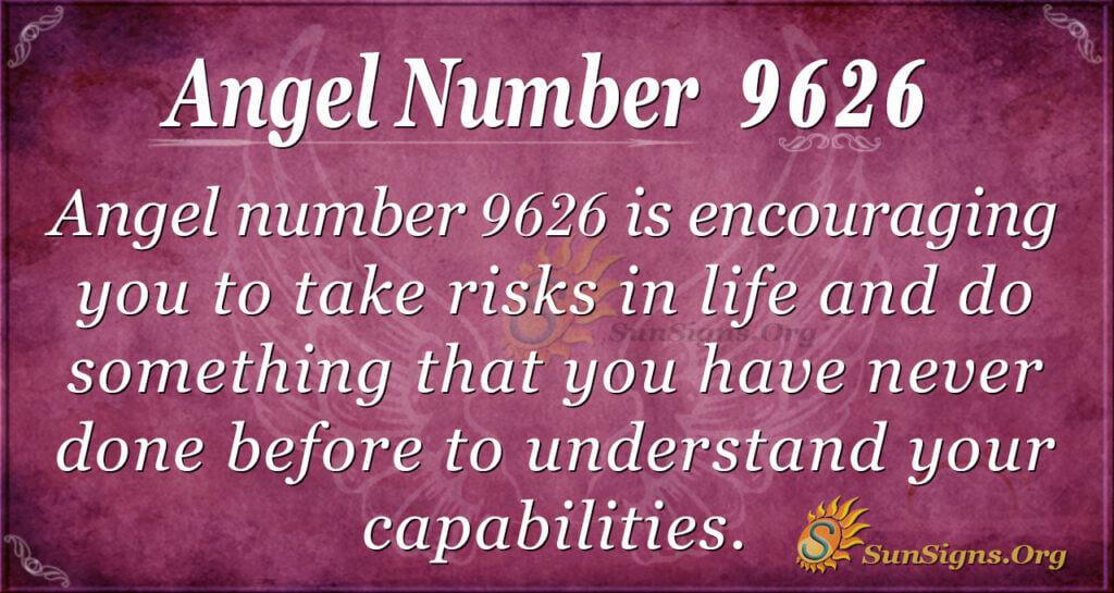 Angel number 9626