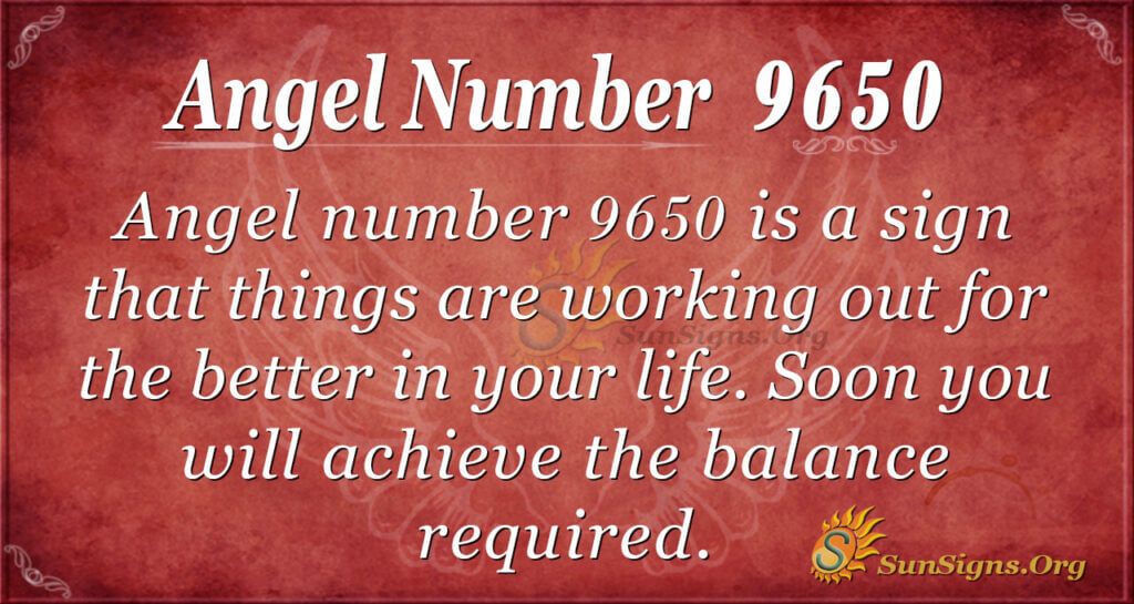 Angel number 9650