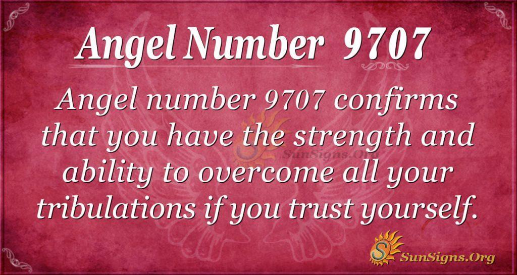 Angel number 9707