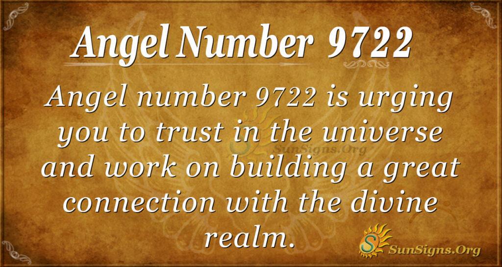 Angel number 9722