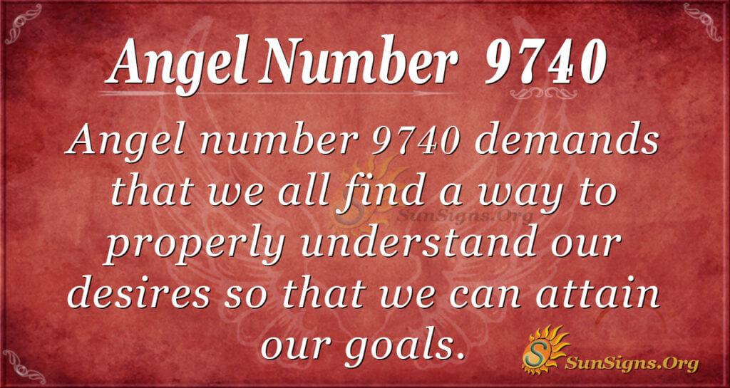 Angel number 9740