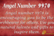 Angel number 9970