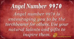 Angel number 9970