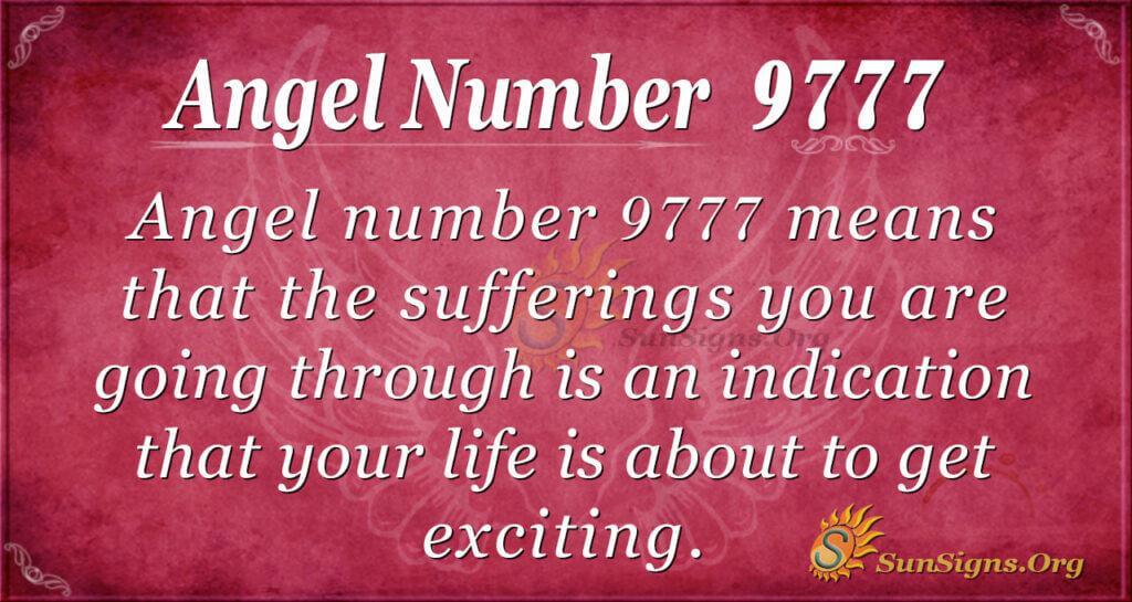 Angel number 9777