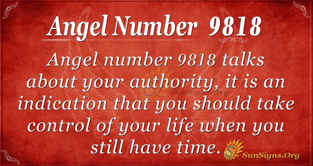 Angel number 9818