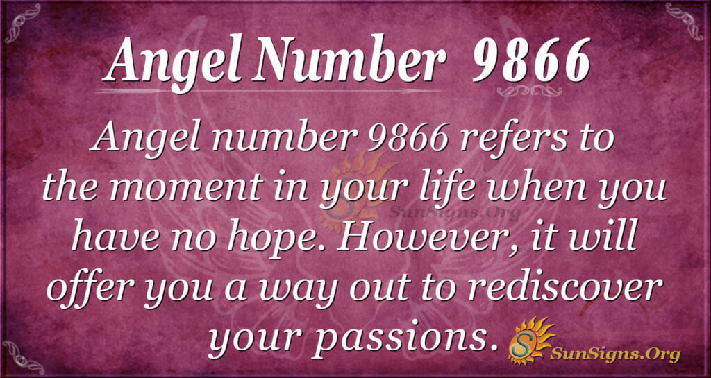 Angel number 9866