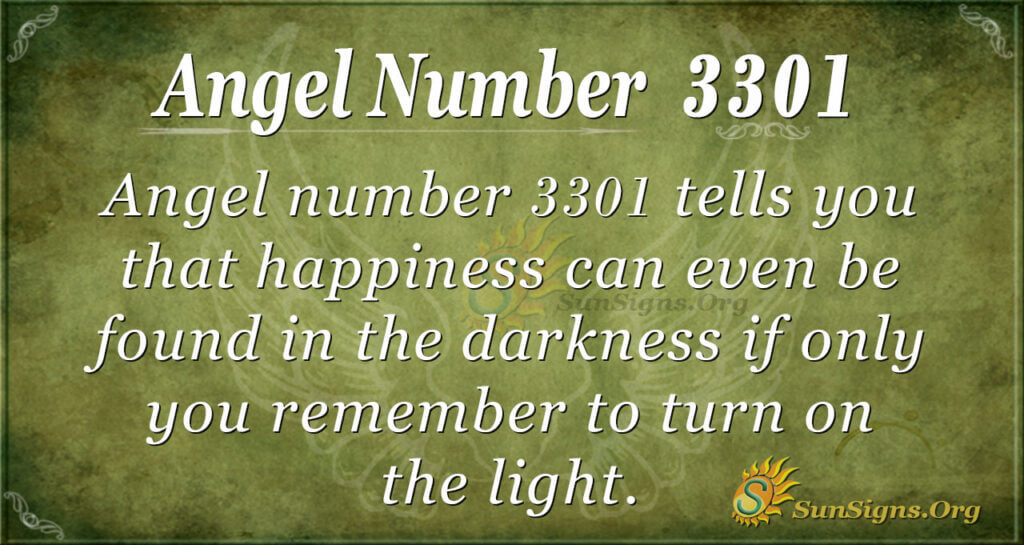Angel number 3301