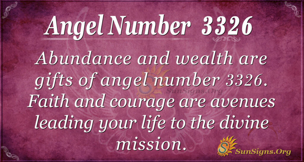 3326 angel number