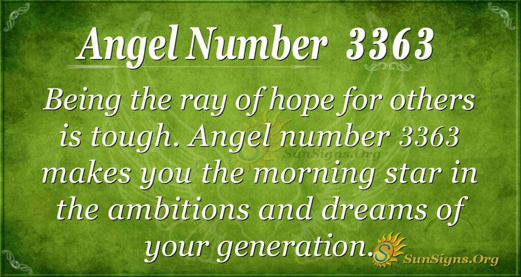 3363 angel number