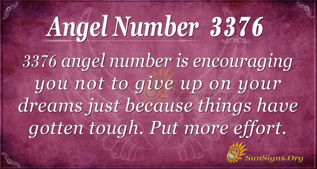 Angel number 3376